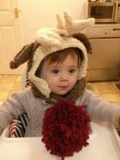 Rudolph and baby coat by Sirdar